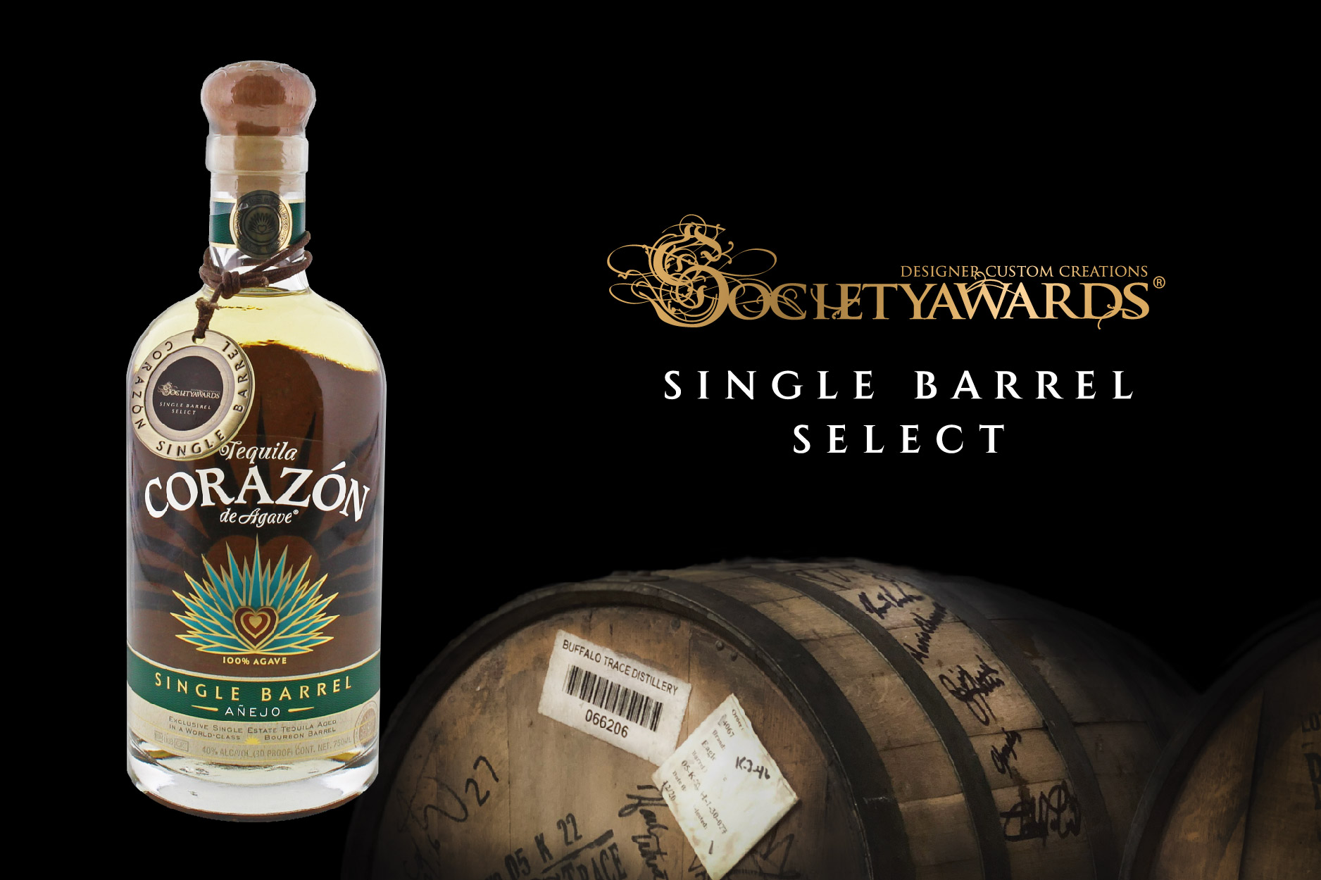 Bourbon Barrel Aged Añejo Tequila from Society Awards